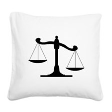 Scale Of Justice Square Canvas Pillow