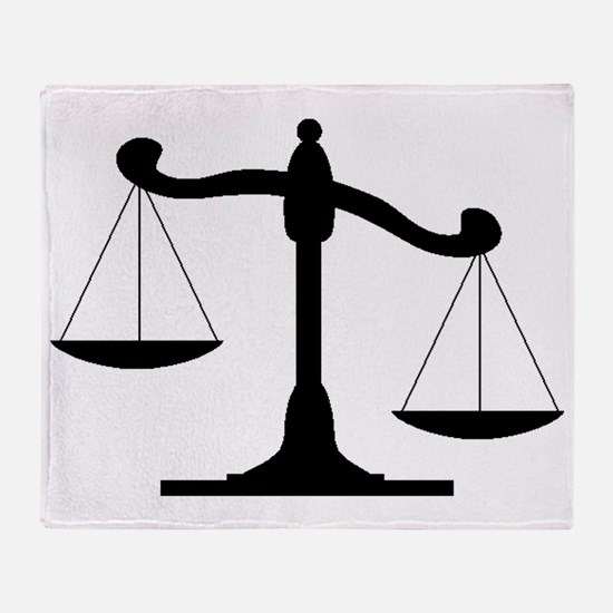 Scale Of Justice Throw Blanket