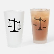 Scale Of Justice Drinking Glass