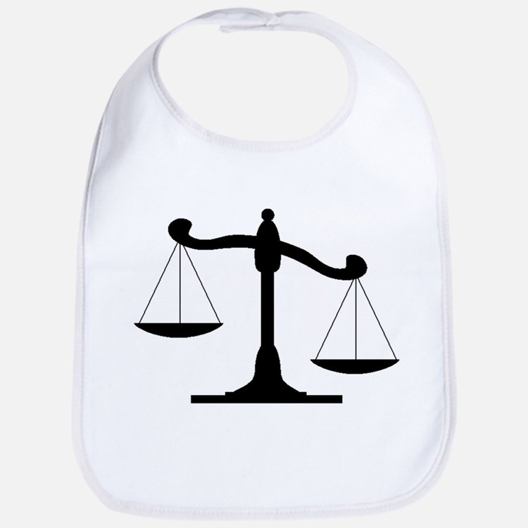 Scale Of Justice Bib