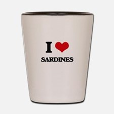 I Love Sardines Shot Glass
