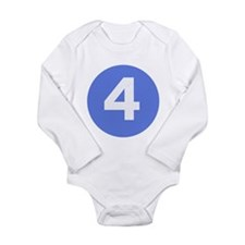 Cute 4 Long Sleeve Infant Bodysuit