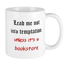 temptation bookstore Mug