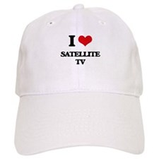 I Love Satellite Tv Baseball Cap