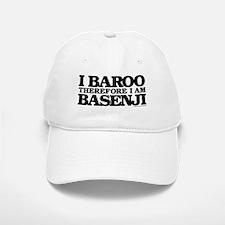 I Baroo Therefore I Am Basenji Baseball Baseball Cap