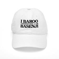 I Baroo Therefore I Am Basenji Baseball Cap