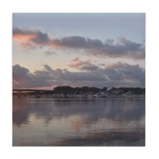 Harbor Sunset 2 Tile Coaster