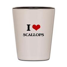 I Love Scallops Shot Glass