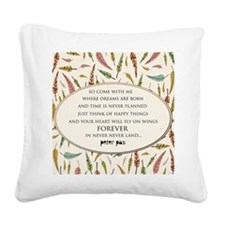 Peter Pan  Square Canvas Pillow
