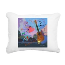 Ukulele Rectangular Canvas Pillow