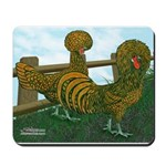 Golden Polish Chickens Mousepad