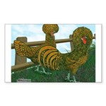 Golden Polish Chickens Rectangle Sticker