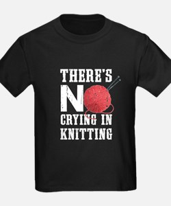 No Crying In Knitting T-Shirt