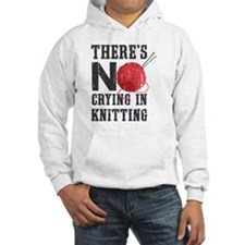 No Crying In Knitting Hoodie