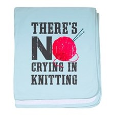 No Crying In Knitting baby blanket
