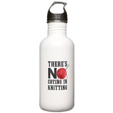 No Crying In Knitting Water Bottle