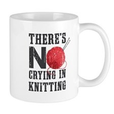 No Crying In Knitting Mugs