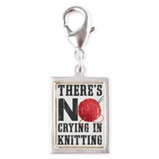 No Crying In Knitting Charms
