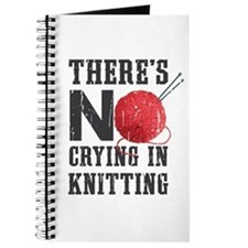 No Crying In Knitting Journal