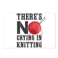 No Crying In Knitting Postcards (Package of 8)