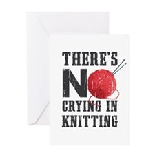 No Crying In Knitting Greeting Cards