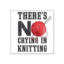 No Crying In Knitting Sticker