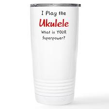 play ukulele Travel Coffee Mug