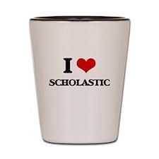 I Love Scholastic Shot Glass