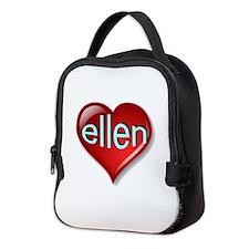 the ellen heart (Front & Back) Neoprene Lunch Bag