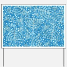 Hanukkah Menorah Pattern Yard Sign
