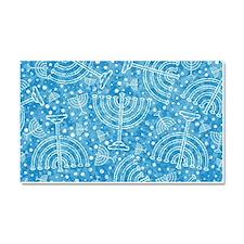 Hanukkah Menorah Pattern Car Magnet 20 x 12