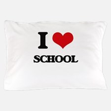 I Love School Pillow Case