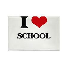 I Love School Magnets