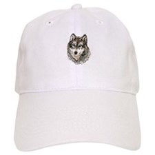 Watercolor Grey Gray Wolf Animal Nature Art Hat