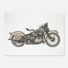 Motorcycle 5'x7'Area Rug