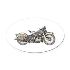 Motorcycle Oval Car Magnet