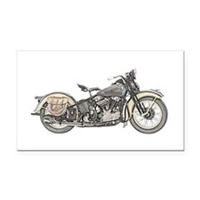 Motorcycle Rectangle Car Magnet