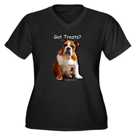 Got Treats? Women's Plus Size V-Neck Dark T-Shirt