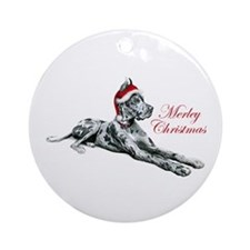 Great Dane Merley Christmas Ornament (Round)