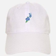 Forget Me Not Flower Watercolor Painting Hat