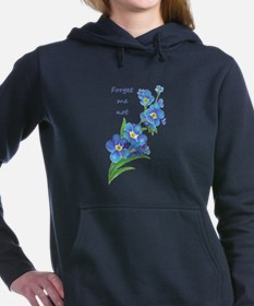 Forget-Me-Not Watercolor Flower & Quote Women's Ho