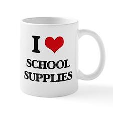 I Love School Supplies Mugs