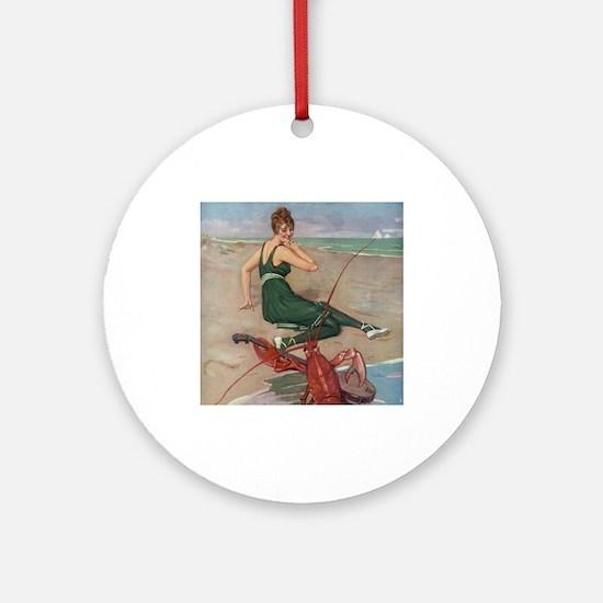 Lobster Serenade Ornament (Round)