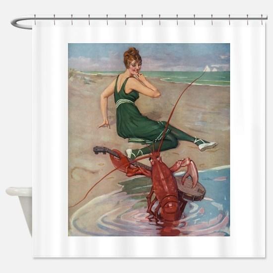 Lobster Serenade Shower Curtain
