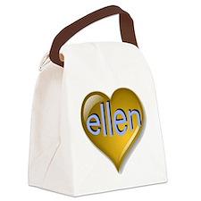 the saphire ellen heart Canvas Lunch Bag