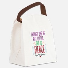 Though She Be But Little Canvas Lunch Bag