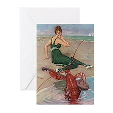 Lobster Serenade Greeting Cards