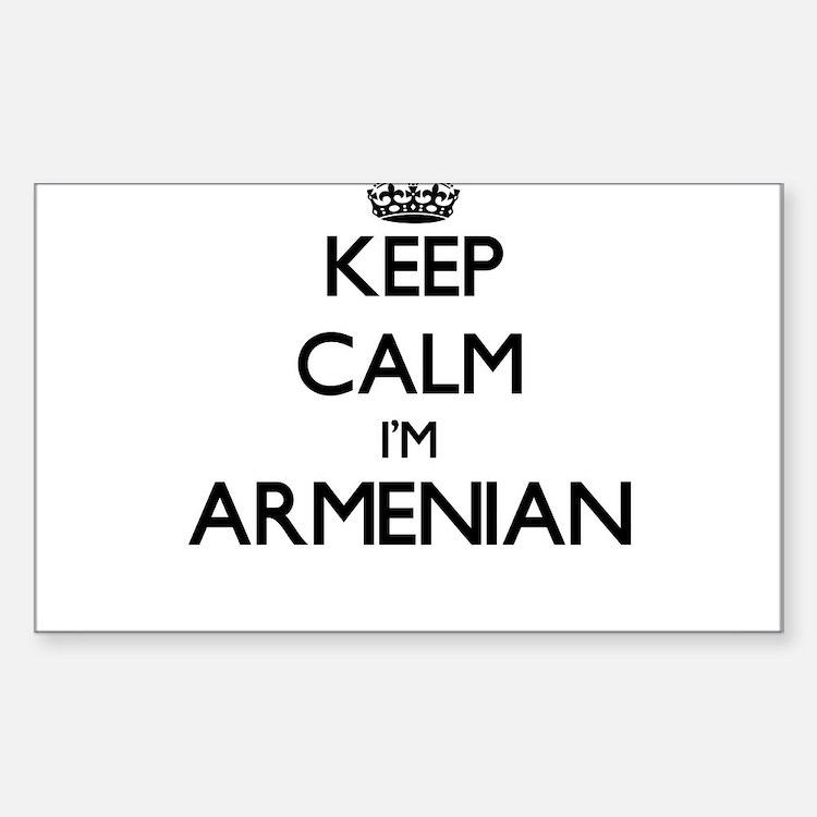 Keep Calm I'm Armenian Decal