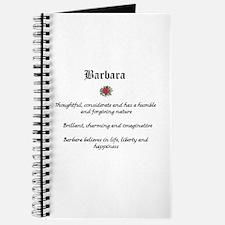 Barbara Name Meaning Journal