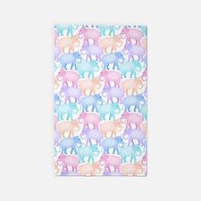 Cute Elephant Pattern Area Rug